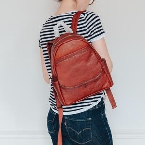 🆕 Frye Cognac Backpack with Front Slit